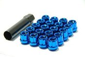 Muteki blue open end lug nuts