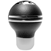 Momo Sphere Black Leather Shift Knob