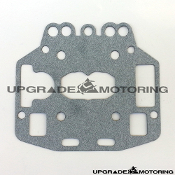 Mikuni Solex PHH Carburetor - Float Chamber Cover Gasket - Toyota 18RG and Toyota 2TG OE Mikuni applications. Item #18. Fits 40PHH 44PHH. Genuine Mikuni N107.147 Made in Japan. Four Bolt Float Chamber Cover Solex Type S4.